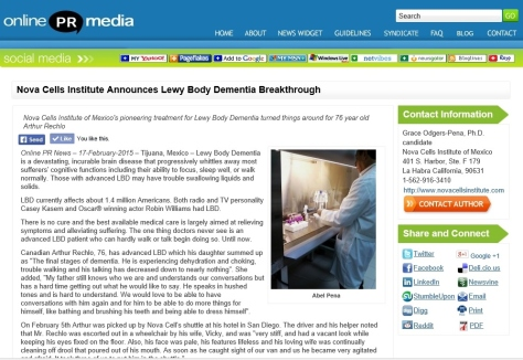 LBD NEWS RELEASE WITH PHOTO - ONLINE PR MEDIA - FEB 2015